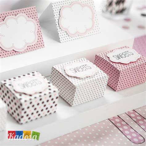 Scatoline Porta Confetti by Box Porta Confetti A Pois Con Nuvoletta Set 6 Pz