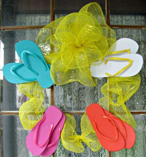 flip flop wreath  diy tutorials guide