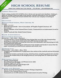 Internship resume samples writing guide resume genius for High school resume