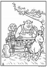Shrek Coloring Forever After Dreamworks Animation Popular sketch template