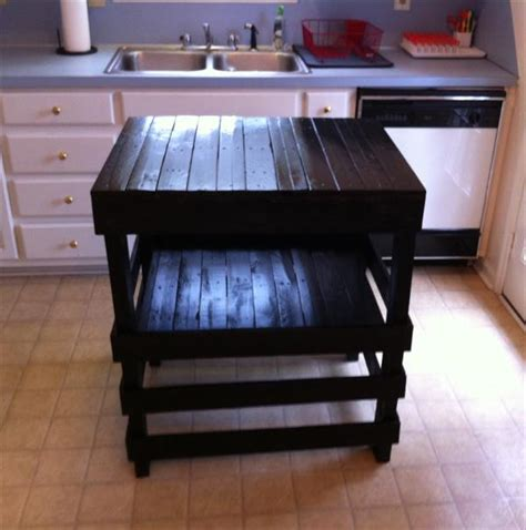 kitchen island made from pallets wooden pallet home ideas pallet idea 8198