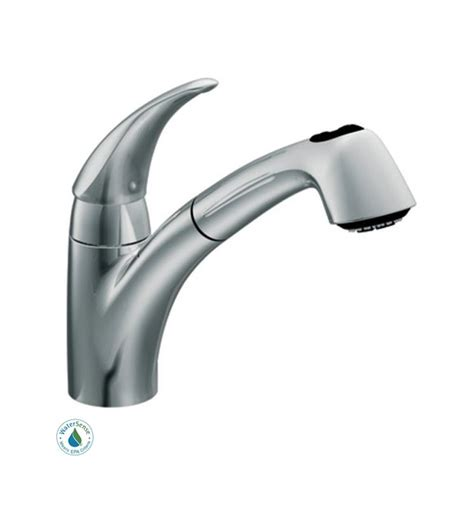 moen 7560c chrome single handle kitchen faucet with