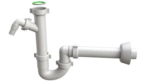 p trap  plastic outlet pipe   mm