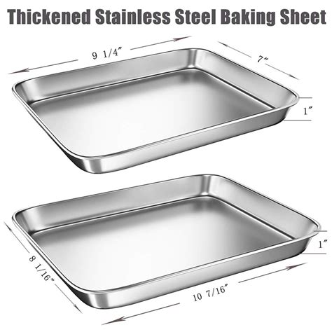 toaster oven stainless sheet steel sheets pans baking cookie met pan material half food