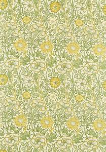 Englische tapetenmuster william morris stil tapeten online for Balkon teppich mit tapeten in gelb