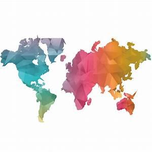 Carte Du Monde Sticker : sticker origami carte du monde stickers villes et voyages pays et voyages ambiance sticker ~ Dode.kayakingforconservation.com Idées de Décoration