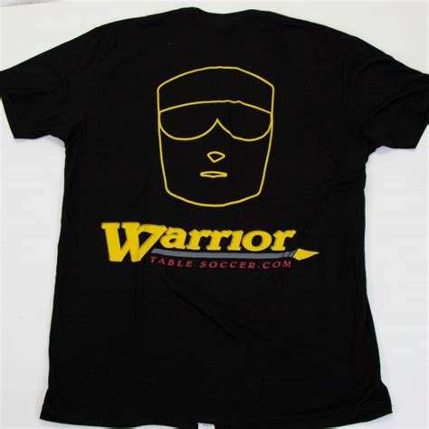 foosball t shirts by warrior table soccer