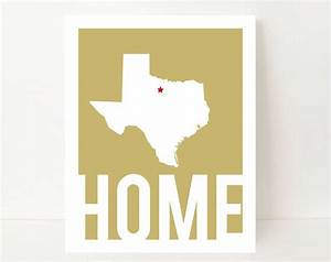 items similar to home decor wall art texas art print With texas wall art