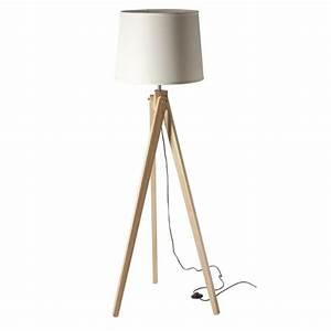Lampe Sur Pied Scandinave : lampe 3 pieds scandinave abat jour blanc ~ Teatrodelosmanantiales.com Idées de Décoration