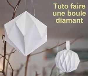 Origami Boule De Noel : faire des boules de no l diamant en papier les tutos ~ Farleysfitness.com Idées de Décoration