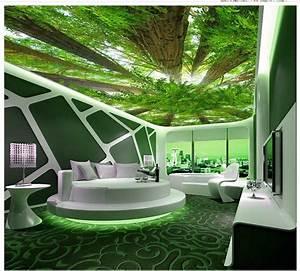 3d Decken Tapete : benutzerdefinierte 3d fotowand papier wald himmel 3d tapete wohnzimmer dekoration decke wand ~ Sanjose-hotels-ca.com Haus und Dekorationen