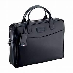st dupont line d document carrier bag black With document carrier