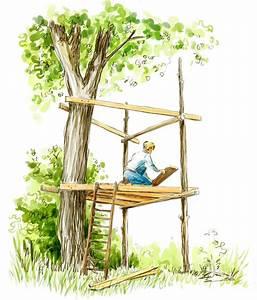 Construire Sa Cabane : cabane dans les arbres la pause jardin ma cabane dans les arbres ~ Melissatoandfro.com Idées de Décoration