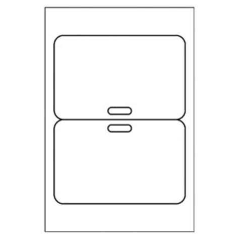Avery Id Badge Template by Free Avery 174 Template For Microsoft Word Fold Clip Badge