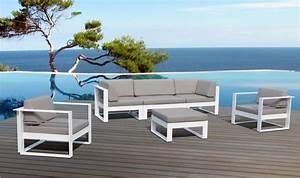 Salon Bas De Jardin Aluminium : canap et fauteuils jardin design luxe st tropez ~ Teatrodelosmanantiales.com Idées de Décoration