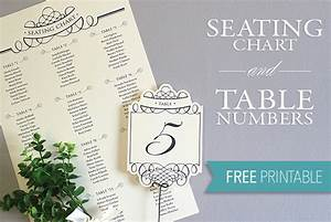 Printable Seating Chart  U0026 Table Number Template
