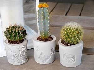 tutoriel decoration effet beton pots de fleurs With tapis chambre bébé avec pot de fleur ciment