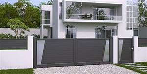 Portail Battant 5 Metres : sp cialiste du portail aluminium mrg est le fabricant r gional de portails en aluminium style ~ Nature-et-papiers.com Idées de Décoration
