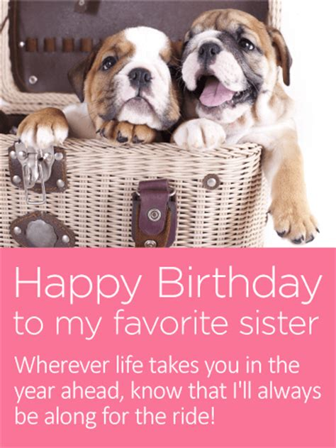 favorite sister happy birthday card  sister
