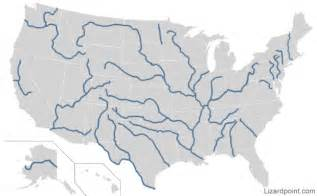 Us Map with Rivers and Mountains