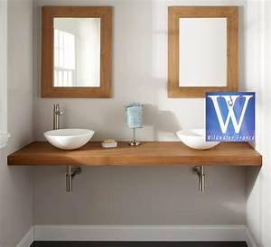 meubles de salle de bain en teck plan de travail With plan de travail hydrofuge salle de bain