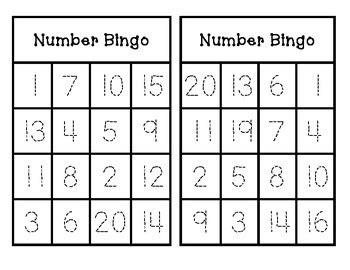 number bingo trace  play    teks checklists