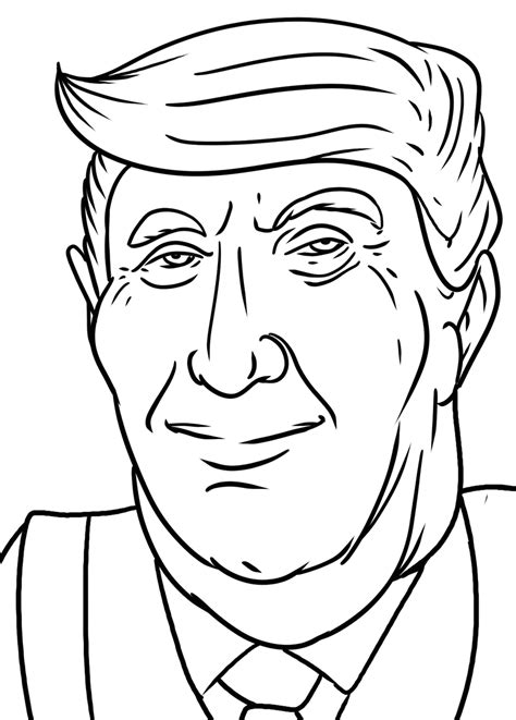 coloring pages trump donald president celebrities election drawing easy games printable lovato selena demi gomez coloringgames getcolorings coloringonly print categories