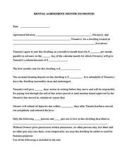 Month Rental Agreement Form