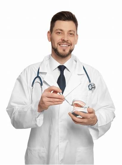 Dentist Doctor Standing Handsome Dental Preventie Dentare
