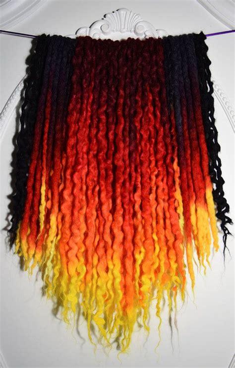 de phoenix uv wool dreads   total length