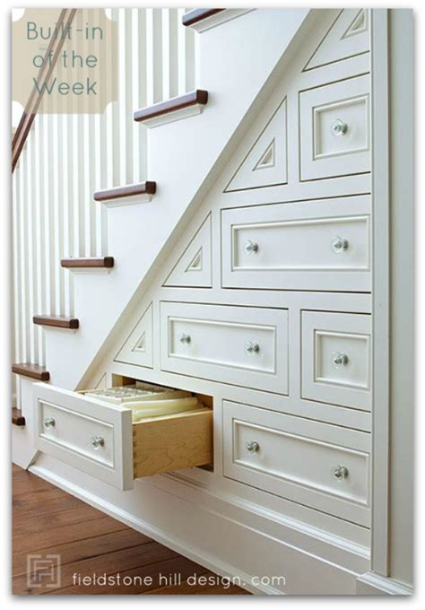 stairs drawers built in of the week under stair drawers fieldstone hill design