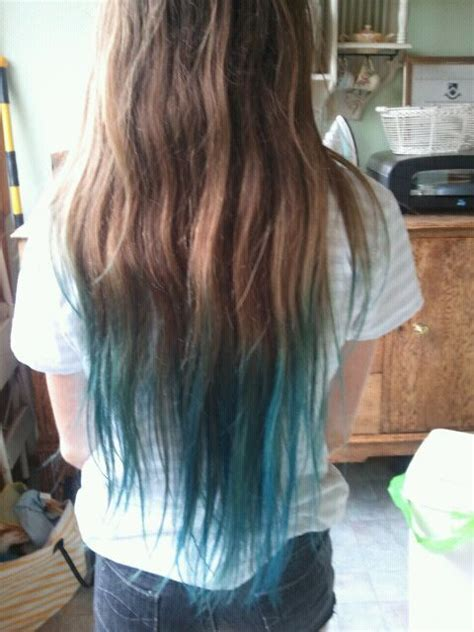 Brown And Blue Tips Hairstyles Pinterest Ombre Cas