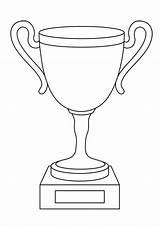 Coloring Cricket Trophy sketch template