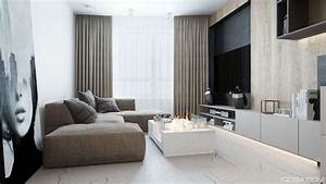 Luxury, Small, Studio, Apartment, Design, Combined, Modern, And, Minimalist, Style, Decor, Looks, Stunning