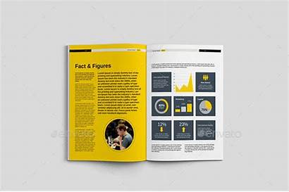 Report Annual Indesign Corporate Templates Graphic Bashooka