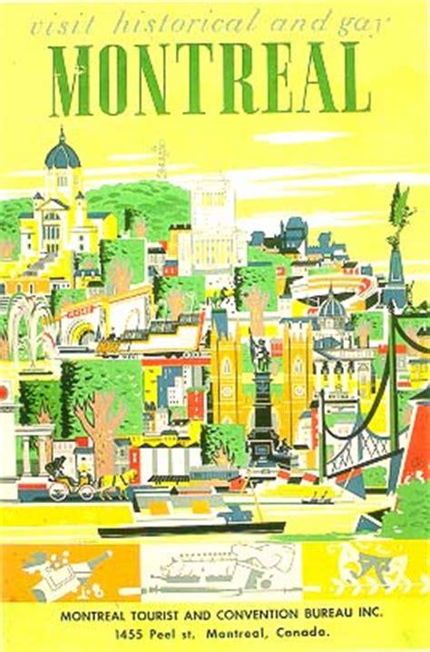 bureau du tourisme montreal affiche de promotion touristique de montréal