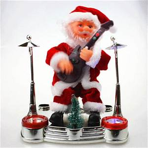 New Music Xmas Christmas Toy Animated Santa Claus Playing