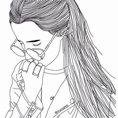 Hipster Drawing Drawings Sad Grunge Coloring Instagram
