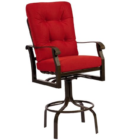 cortland cushion swivel bar stool by woodard family