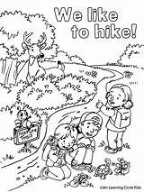 Coloring Pages Summer Fun Camping Hiking Printable Bee Friends Reader Preschool Printables Sheets Cool Snoopy Scouts Ak0 Camp Hikers Scout sketch template