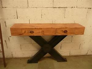 Console Fer Et Bois : kamart deco industrielle fabrication de meubles de ~ Teatrodelosmanantiales.com Idées de Décoration