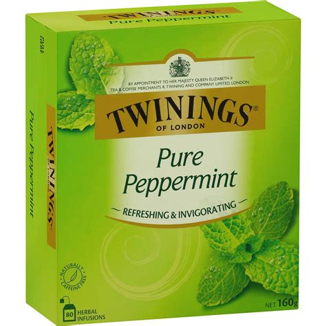 peppermint tea twinings pure peppermint tea bags 80pk woolworths