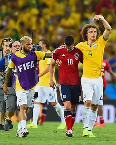 James Rodriguez and David Luiz Photos - Brazil v Colombia ...