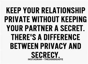 keep your relat... Keep Privacy Quotes