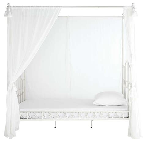 modern metal canopy bed kinder himmelbett aus metall 90 x 190 cm elfenbein