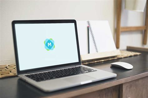 Logo printed on fabric mockup. Authentic MacBook Desk Mockup PSD - Mockup Templates