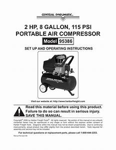 Harbor Freight Tools Central Pneamatic 95386 User Manual