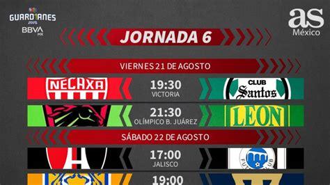 Liga MX: Fechas y horarios del Guardianes 2020, Jornada 6 ...