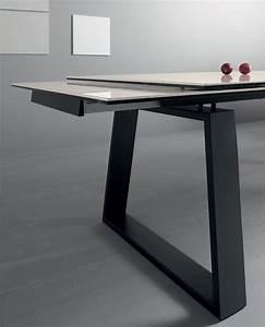 Table Rectangulaire Avec Rallonge : ceram table rallonges avec plan en c ramique idd ~ Teatrodelosmanantiales.com Idées de Décoration