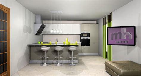 image deco cuisine idee deco cuisine ouverte sur salon cuisine en image